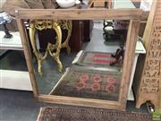 Sale 8593 - Lot 1089 - Rustic Timber Framed Bevelle4d Edge Mirror