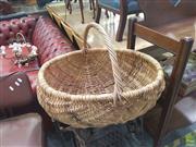 Sale 8648C - Lot 1064 - Large Cane Basket