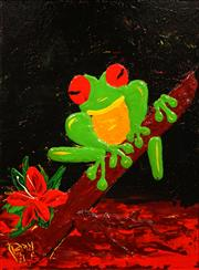 Sale 8675 - Lot 535 - Dean Vella (1958 - ) - Tree Frog 49 x 39cm