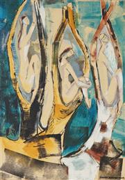Sale 8773A - Lot 5081 - Barbara Blakemore-Fowler (1921 - 2004) - 3 Figures 56 x 39.5cm