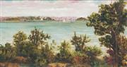 Sale 8773A - Lot 5078 - Artist Unknown - Fort Denison From Kirribilla c1900 36 x 66cm