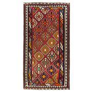 Sale 8870C - Lot 3 - Persian Nomadic Qashgai Kilim Rug in Handspun Wool, 287x153cm