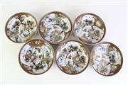 Sale 8894 - Lot 18 - Set Of Six Satsuma Japanese Bowls (Dia 15cm)