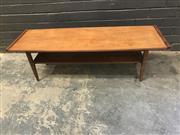Sale 9039 - Lot 1054 - Vintage Myers Teak Coffee Table (H37 x W121 x D79cm)