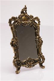 Sale 9049 - Lot 2 - Metal framed dresser mirror (38cm x 24cm)