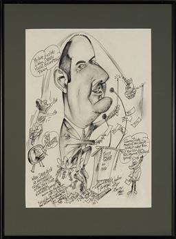 Sale 9127 - Lot 2093 - Tony Rafty (1915 - 2015) - David Koch Talks About Money, 2000 48 x 36 cm (frame: 65 x 51 x 3 cm)