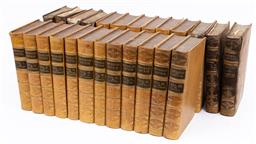 Sale 9130S - Lot 59 - Sir Walter Scott, Waverley Novels, 25 volumes EX libris Laura Campbell, quarter damaged