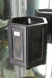 Sale 8324 - Lot 86 - Zitan Hexagonal Brushpot