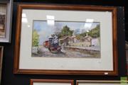 Sale 8468 - Lot 2009 - John Kenders Watercolour Train SLR