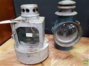 Sale 8480 - Lot 1010 - Two Early Railway Lanterns