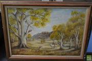 Sale 8495 - Lot 2029 - Framed Landscape
