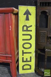 Sale 8499 - Lot 1016 - Detour Sign