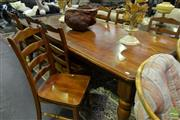 Sale 8520 - Lot 1085 - Pine 9 Piece Dining Suite