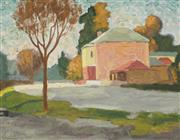 Sale 8773 - Lot 535 - Roland Wakelin (1887 - 1971) - Street Scene Bathurst, 1947 24 x 31.5cm