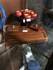 Sale 8775 - Lot 66 - A Victorian Oak Ink Well