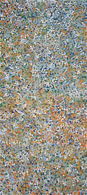 Sale 8808 - Lot 564 - Belinda Golder Kngwarreye (1986 - ) - Bush Plum Dreaming 204 x 91cm