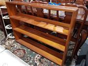 Sale 8826 - Lot 1021 - Timber Open Bookcase (H: 93 W: 122 D: 19cm)
