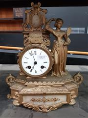 Sale 8831 - Lot 1002 - Cast Brass French Mantle Clock, circa 1845 - Valuation certificate and key in office