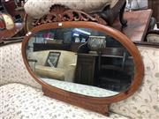 Sale 8868 - Lot 1198 - Carved Timber Framed Oval Mirror