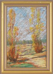 Sale 8895 - Lot 2018 - Ian Webb (1943 - ) - Colour in the Park 29.5 x 19.5, 36.5 x 26 (frame size)