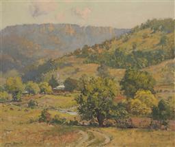Sale 9195 - Lot 521 - JOHN ALLCOT (1888 - 1973) - Country Landscape 37 x 44.5 cm (frame: 52 x 60 x 4 cm)