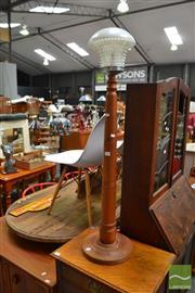 Sale 8480 - Lot 1124 - Turned Timber Standard Lamp