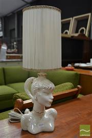Sale 8528 - Lot 1029 - Opalesque Lady Bust Barsony Table Lamp