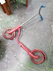 Sale 8566 - Lot 1051A - Vintage Tin Plate Red Flower Scooter
