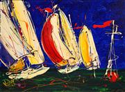 Sale 8675 - Lot 563 - Dean Vella (1958 - ) - Sailing Scene 44 x 59cm