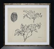 Sale 8924 - Lot 2041 - Desiderius Orban (1884 - 1986) Floral Study, 1963 ink on paper, 35 x 39cm, signed and dated -