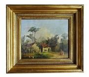 Sale 8891H - Lot 5 - ARTIST UKNOWN - EUROPEAN SCHOOL - Figures in a Farmyard, Early C19th 26.0 x 30.0cm