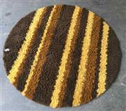 Sale 8930 - Lot 1028 - Round Retro Shag Pile Rug