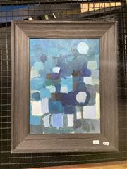 Sale 9004 - Lot 2010 - Francis Firrier Abstract in Blue, oil on canvas, frame: 54 x 44 cm, unsigned