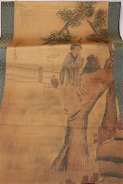 Sale 9052 - Lot 333 - Chinese Scroll of an Old Man with a Young Boy