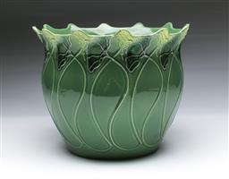 Sale 9093 - Lot 99 - Vintage Blakeney Pottery Bowl in the Art Nouveau Fleur Style (Dia 28cm x H 23cm)