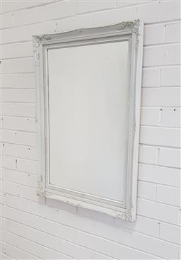 Sale 9146 - Lot 1076 - Painted timber frame mirror ( 90 x 65cm)
