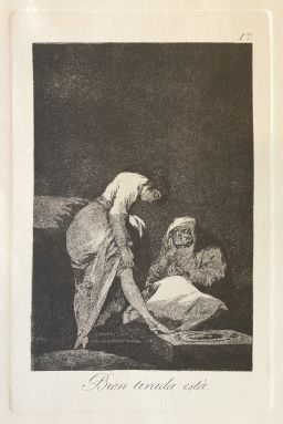Sale 9150J - Lot 75 - FRANCISCO GOYA (1746 - 1828, SPANISH) Bien Tirada Esta 1796-1799 (Restrike etching) Etching and burnished aquatint on paper 22.5cm x...