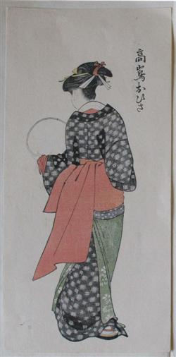 Sale 7917 - Lot 2135 - After Kitagawa Utamaro - Geisha (Two Views, Second to Verso)