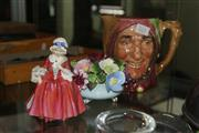 Sale 8304 - Lot 52 - Royal Doulton Lavinia Figure with an Adderley Centrepiece & a Royal Doulton Toby Jug