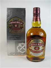 Sale 8335W - Lot 613 - 1x Chivas Regal 12YO Blended Scotch Whisky - 40% ABV, 700ml in box