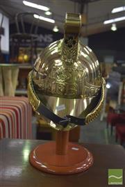 Sale 8390 - Lot 1240 - NSW FB Brass Helmet On Stand