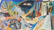 Sale 8789 - Lot 2039 - Barbara Blakemore-Fowler (1921 - 2004) - Untitled (Landscape) 45 x 29cm