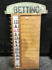 Sale 8805 - Lot 1009 - Vintage Tote Board and Betting Sign