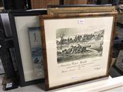 Sale 8811 - Lot 2096 - 4 Pictures incl. Portrait, Military Print, etc