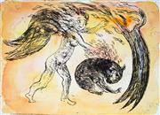 Sale 8930A - Lot 5018 - David Boyd (1924 - 2011) - Sacred Fire 19 x 26.5 cm (image size) 55.5 x 38 cm (sheet size)