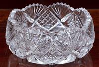 Sale 8963H - Lot 63 - A Bohemian heavy cut crystal bowl, diameter 21cm