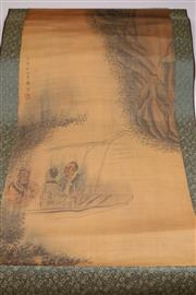 Sale 9052 - Lot 334 - Chinese Scroll of Three Men