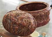 Sale 8319 - Lot 324 - 1970s Portmerion treacle glazed game dish and cover