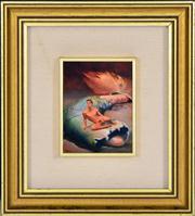 Sale 8344 - Lot 570 - James Gleeson (1915 - 2008) - Figure in Psychoscape 10 x 7.5cm