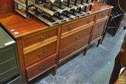 Sale 8341 - Lot 1073 - Timber Sideboard with Nine Drawers
